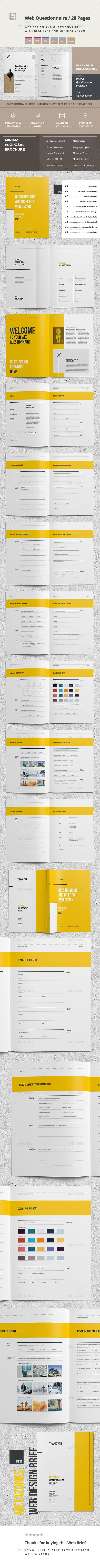 Questionnaire Web Design — InDesign INDD #word #questionairre • Download ➝ https://graphicriver.net/item/questionnaire-web-design/19826027?ref=pxcr