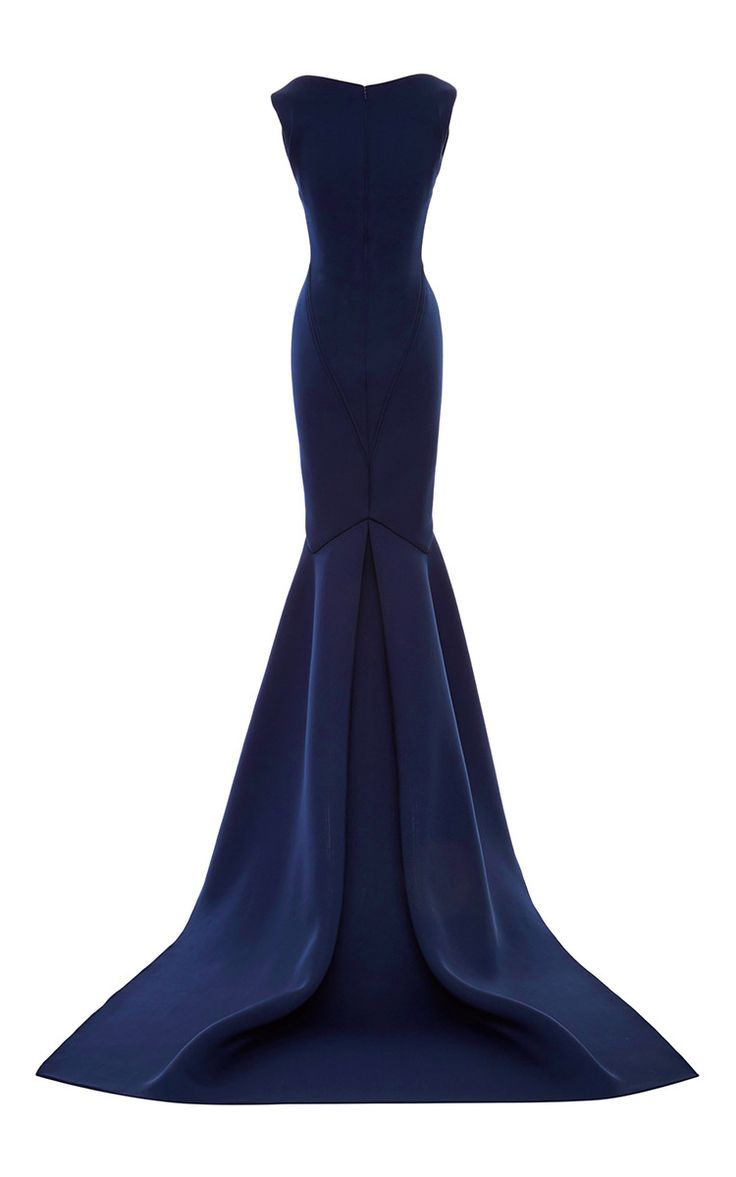 Solid Neoprene Flared Gown by Zac Posen for Preorder on Moda Operandi
