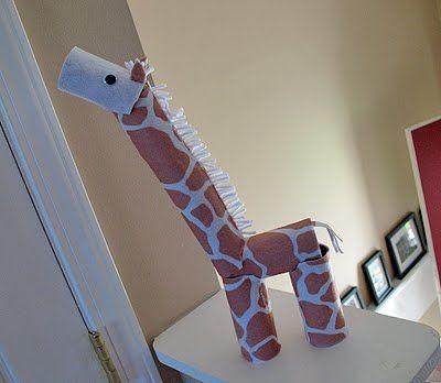 cardboard tube giraffe craft