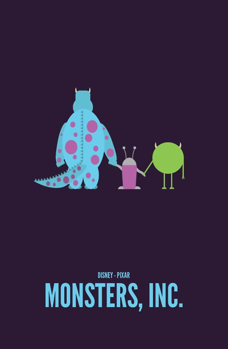 """Monsters, Inc. I had a free ticket to see the theater rerelease (in 2D), so me and Mom went. This is my favorite Pixar movie ever. :) """"I think I have a plan here: using mainly spoons, we dig a tunnel under the city and release it into the wild."""""""