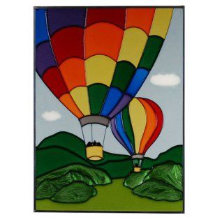 Stained Glass Wall Art are elegant and timeless and have truly stood the test of time throughout the decades. In fact stained glass wall decorations effortlessly bring beauty which iscomplimentary to almost all home decor themes. Recently stained glass home decor is becoming extremely popular in modern home decor themes   Air Balloons Vertical Art Glass Panel Wall Hanging Suncatcher 14 x 10
