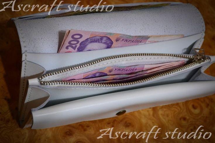 Женский кошелек, клатч из натуральной кожи - Каталог рукоделия #85503