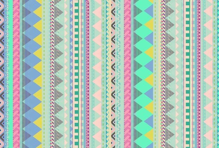 vasarenar: Pastel Aztec pattern by Vasare Nar http://vasare.wordpress.com/
