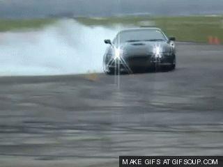 Toyota Supra Drifting Circles And Tire Smoke