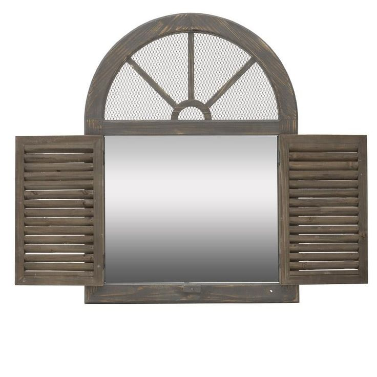 Wooden Mirror - Wooden - Polyester - MIRRORS - inart