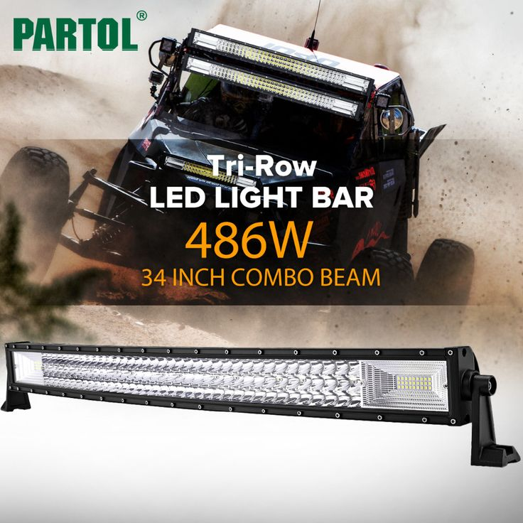 Partol 34 Inch 486W Tri-Row Curved LED Light Bar //Price: $192.08 & FREE Shipping //     #dashcam
