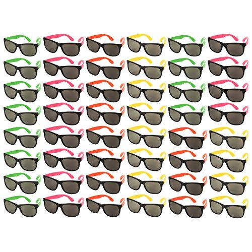 48-Pack Party Glasses - 80s Party Favors, Plastic Neon Sunglasses, Perfect for Bachelorette or Bachelor Party Supplies, Assorted Colors - http://partysuppliesanddecorations.com/48-pack-party-glasses-80s-party-favors-plastic-neon-sunglasses-perfect-for-bachelorette-or-bachelor-party-supplies-assorted-colors.html