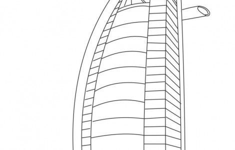 Burj khalifa coloring coloring pages for Burj khalifa sketch
