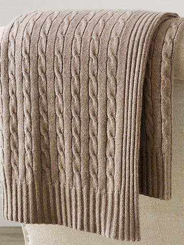 Cabled Cashmere Throw Blanket - Throws & Blankets  Home - RalphLauren.com