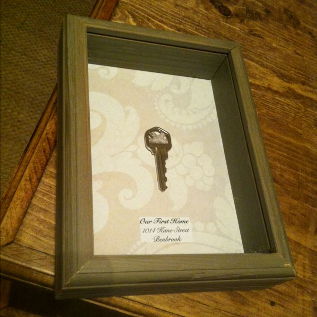 First home key....love this idea!