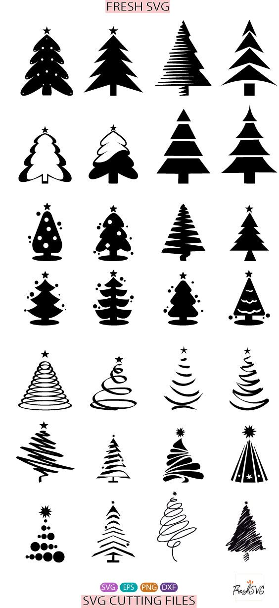 35 Christmas Tree Bundle Svg Instant Popular Free Vectors File In 2020 Christmas Tree Clipart Vector Free Traveling By Yourself