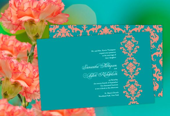 Coral And Teal Wedding Invitations: 156 Best Coral And Teal Wedding Ideas Images On Pinterest