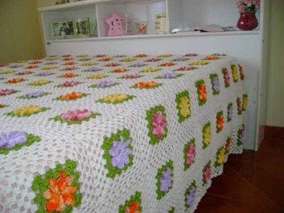 ***: Crochet Blankets, Afghans, Decor Ideas, Crochet Da, Bedspreads, Granny Squares, Beautiful Crochet