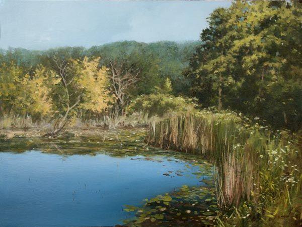 "Denise Antaya - Conservation Area 12"" x 16"" Oil on prepared birch panel"