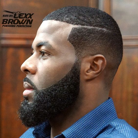 Hairstyle For Black Men Shaved Fade Hairstyle 1 Beards