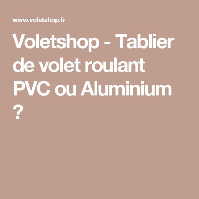Voletshop - Tablier de volet roulant PVC ou Aluminium ?