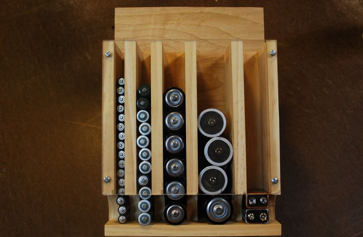 How to Make a Battery Organizer (woodlogger.com)