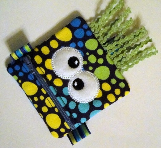 Silly Monster Change Purse/Cardholder/Paci Pod Perfect Gift for Kids  $11.50 @ http://www.etsy.com/listing/75102918/silly-monster-change-pursecardholderpaci