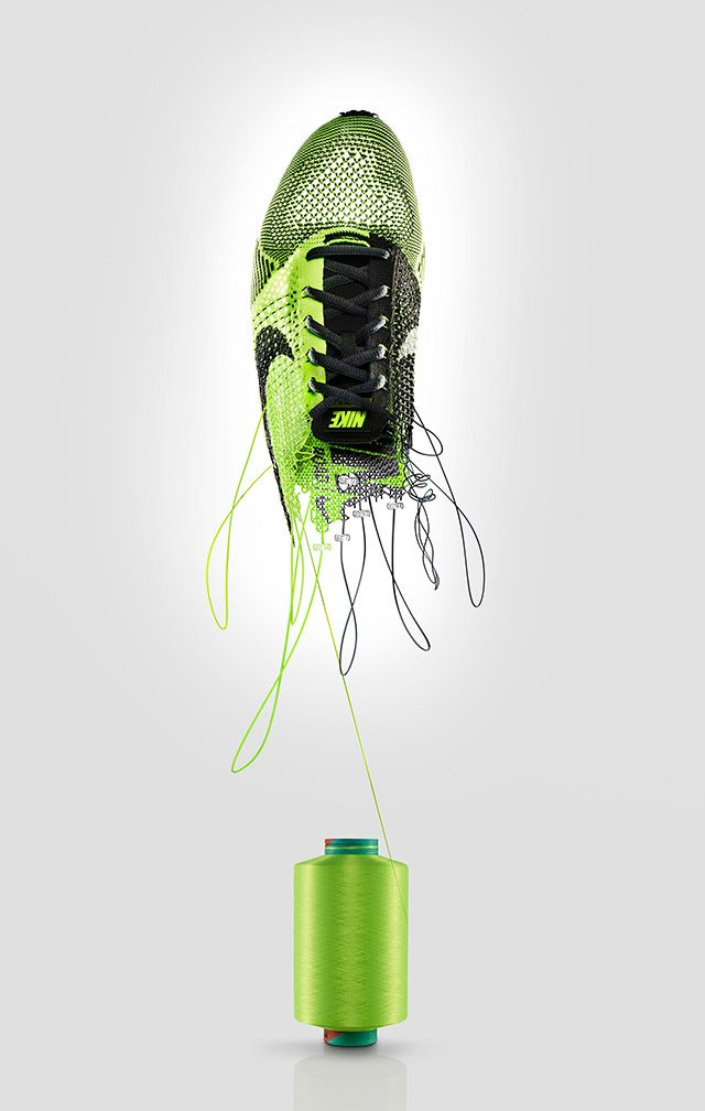 Lovely visual. Want it already. Death by advertising. Nike Flyknit