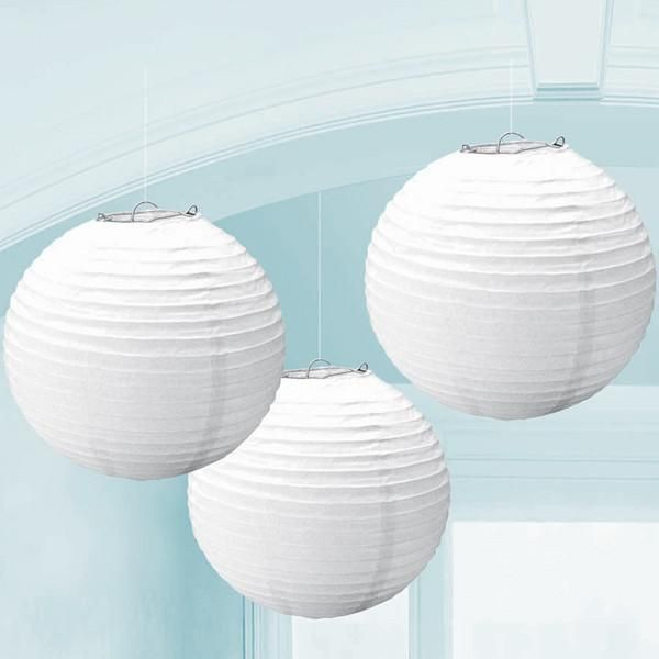 """These paper lanterns are a great party decoration for bridal showers, anniversaries, and weddings. Measuring 9.5"""" in diameter they are a visually appealing addi"""