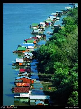 Barges on the Sava - Belgrade, Serbia