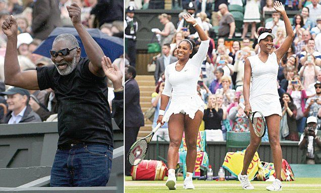 Venus and Serena Williams' father Richard had stroke before Wimbledon 2016 final | Daily Mail Online