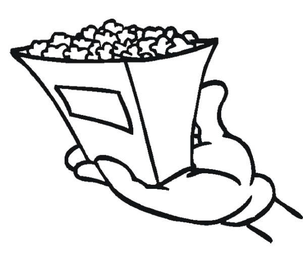 coloring pages popcorn - photo#33