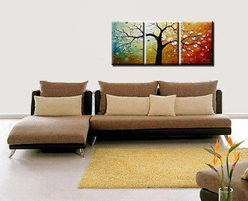 Phoenix Decor-Abstract Canvas Wall Art Oil Paintings on Canvas for Home Decoration Modern Painting Wall Decor Stretched Ready to Hang 3 Piece Canvas Art Set(12X16inchx3pcs):Amazon:Home & Kitchen