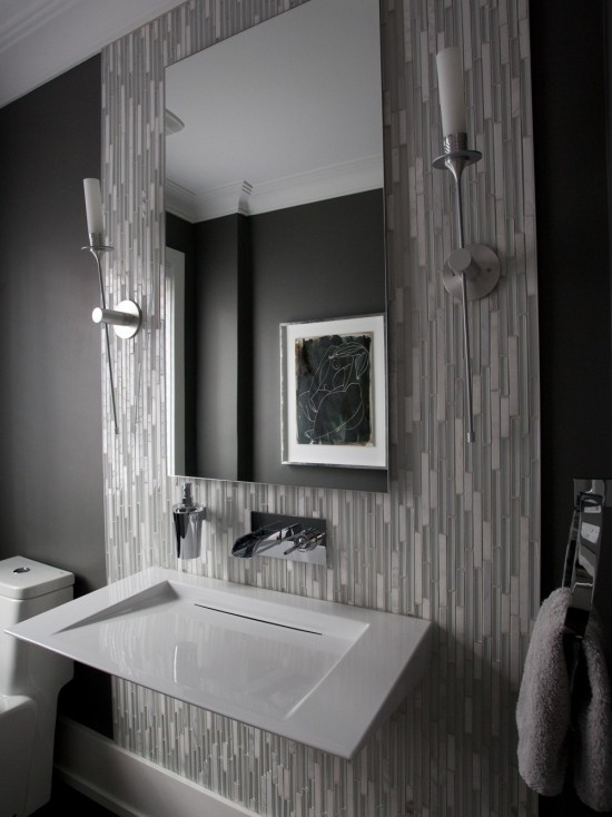 Modern Powder Room Design, Pictures, Remodel, Decor And Ideas   Page 3