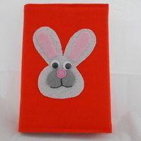 Rabbit Notebook Cover with notebook A6  Rabbit  'Rachel