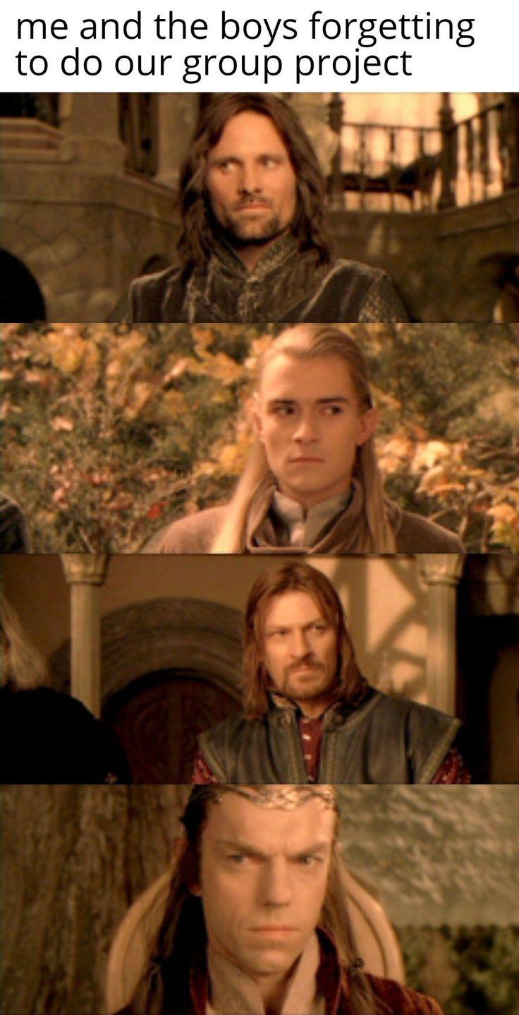 Lord of the Rings lotr meme in 2020 | Lotr funny, Legolas ...