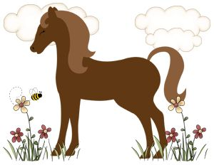 Horse Pony Wall Border Decals Barnyard Farm Cowgirl Baby Nursery Kids Room Decor | eBay