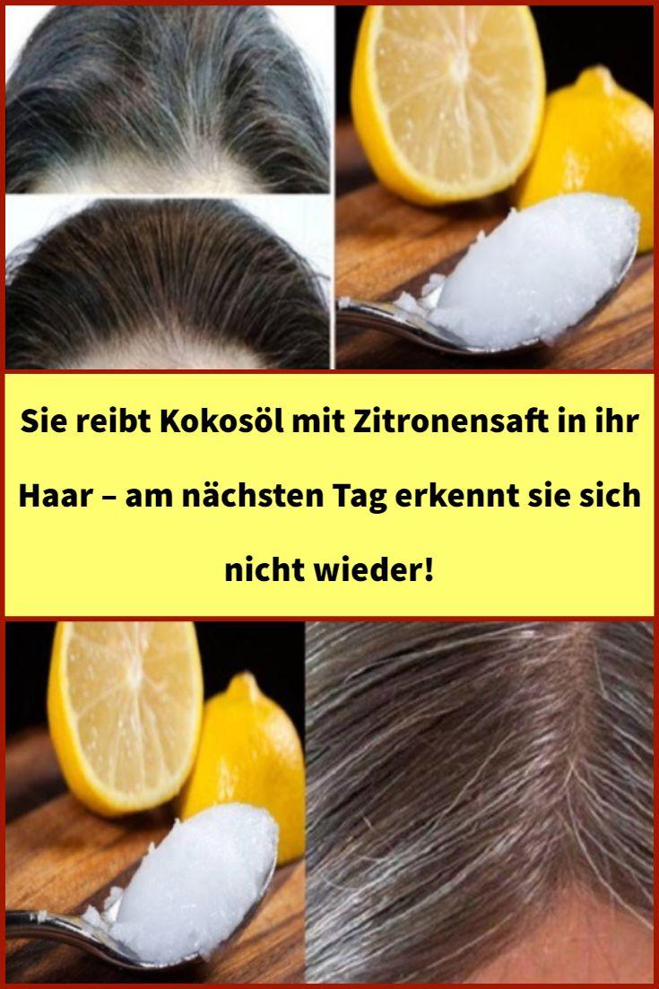Sie reibt kokosöl mit zitronensaft in ihr haar – am nächsten tag erkennt sie sich nicht wieder! – su