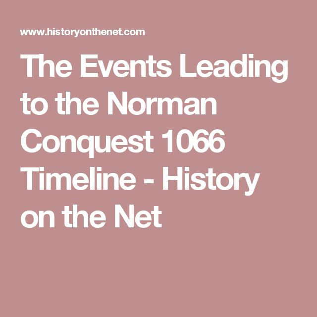 The Events Leading to the Norman Conquest 1066 Timeline - History on the Net