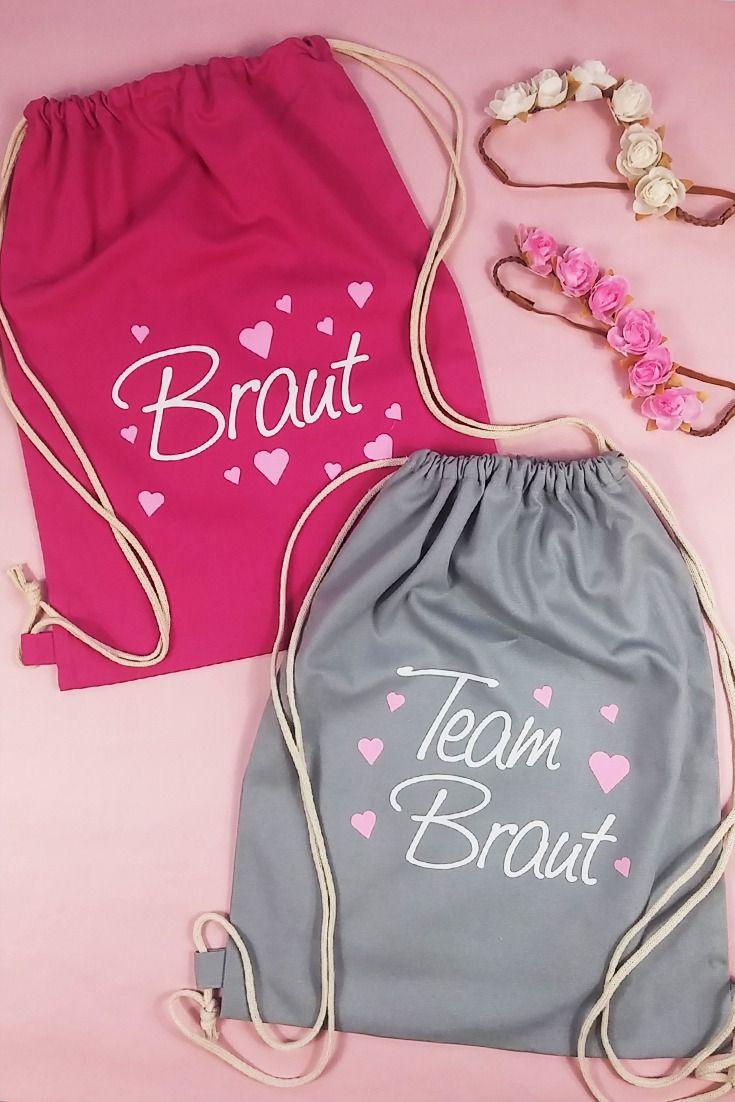 Süße JGA Beutel für Braut und Team Braut