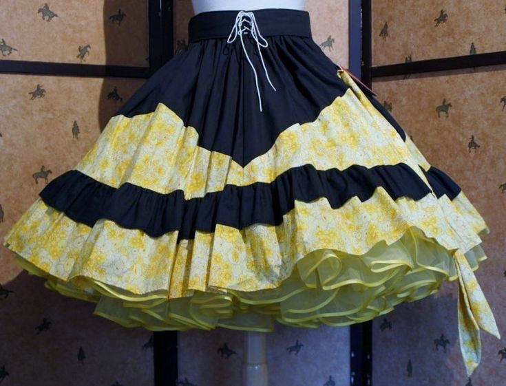 Square Dance Line Dance Round Dance Rockabilly Skirt S