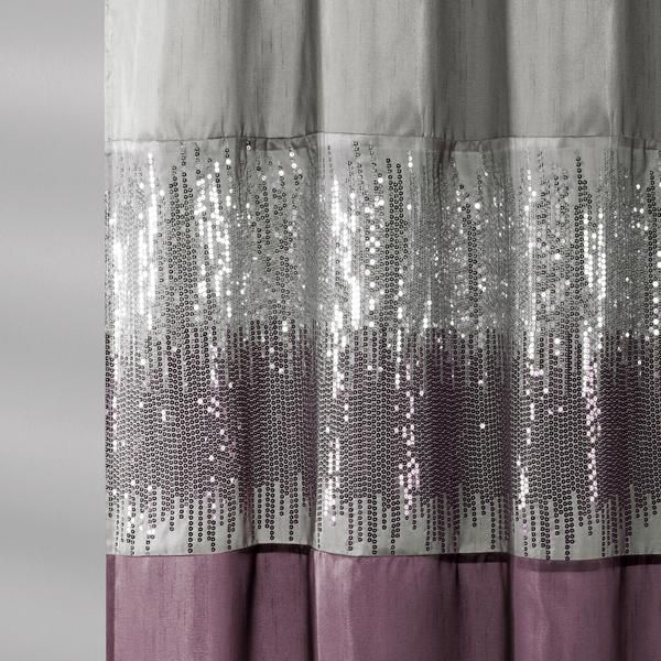 Night Sky Shower Curtain Lush Decor Grey Curtains Curtains