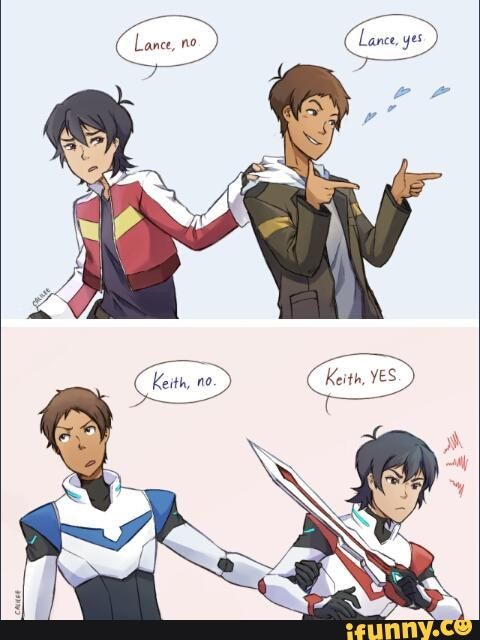 VLD fanart - keith and lance when the roles are switched, they're not so different