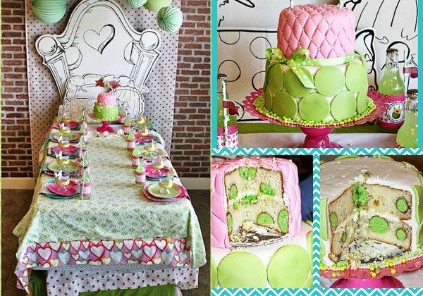 pink & green princess and the pea party