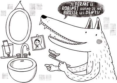 04 je ferme le robinet quand je me brosse les dents e coloriage ecole divers pinterest. Black Bedroom Furniture Sets. Home Design Ideas