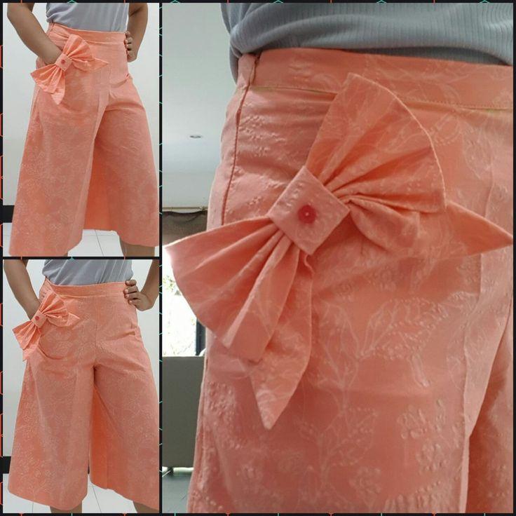 Self-made bow pocket cullotes