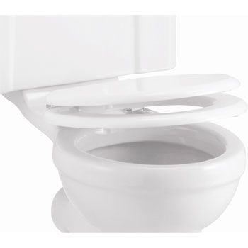 Burlington Soft Close Toilet Seat - Gloss White Seat - S18 at Victorian Plumbing UK
