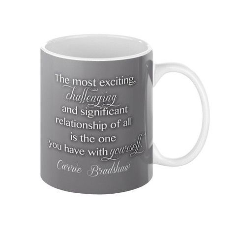 coffee mug with quote sex and the city quotes tv series party instant 1 tv series mugs. Black Bedroom Furniture Sets. Home Design Ideas