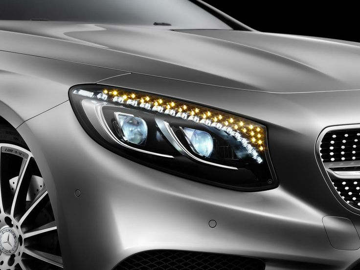 2015 S-Class Coupe with 47 Swarovski crystals inside each headlamp instead of LED lights