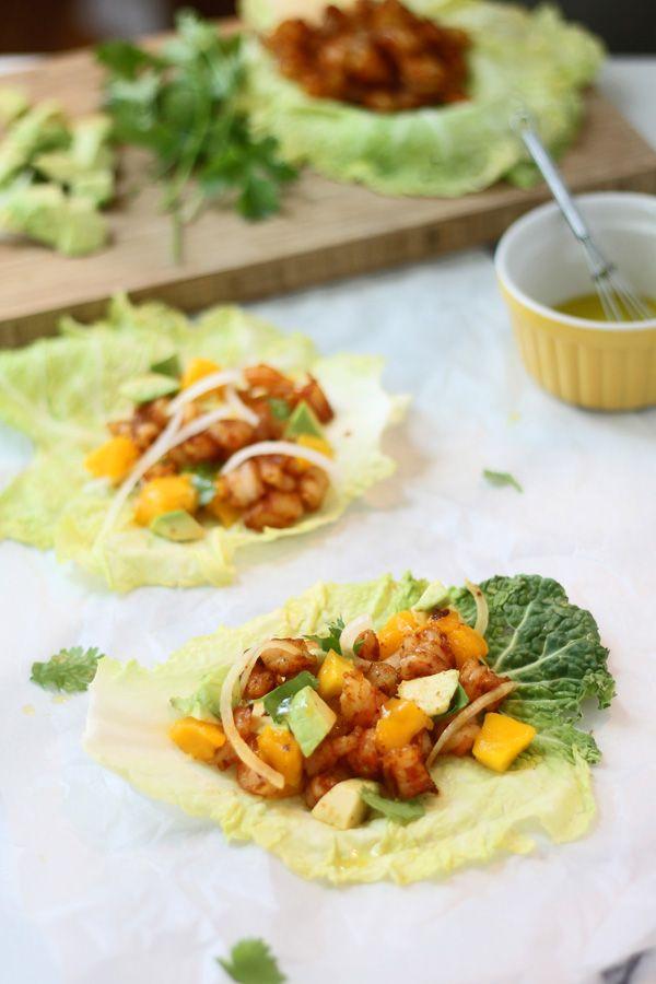 Shrimp & Mango Lettuce Wraps