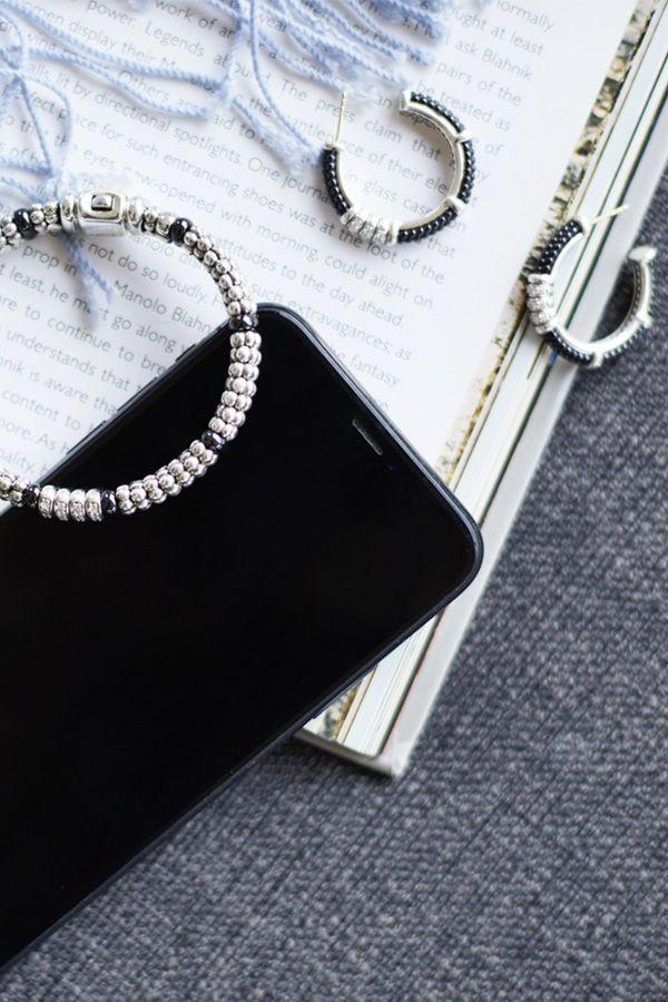 c1ad56c11 LAGOS Black Caviar Diamond Bracelet and Hoop Earrings #diamondjewelry  #mylagosmyway
