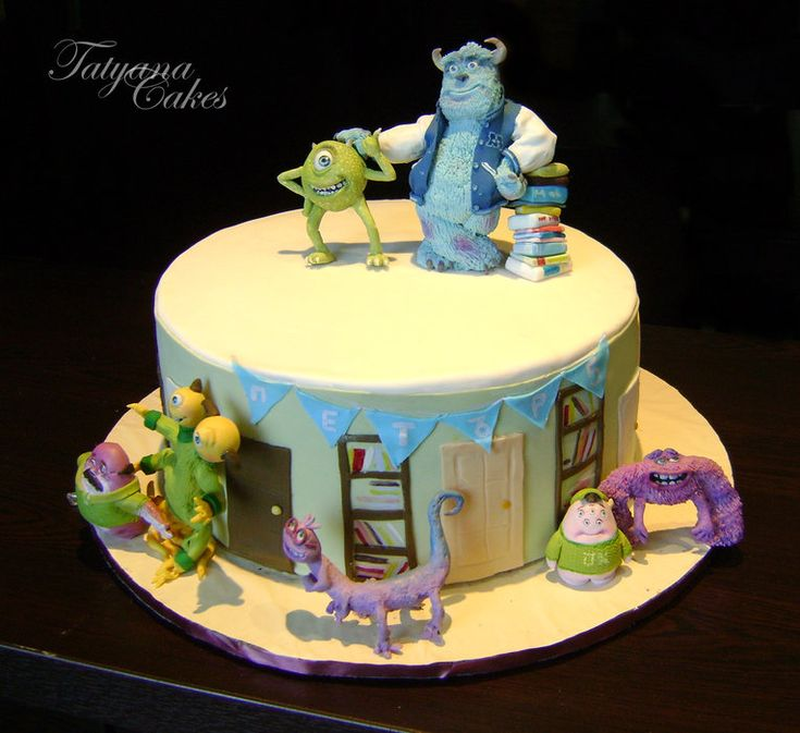 monster university cake - by Tatyana Cakes @ CakesDecor.com - cake decorating website