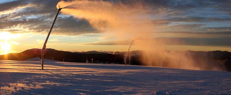 Mt Buller sunrise snowmaking