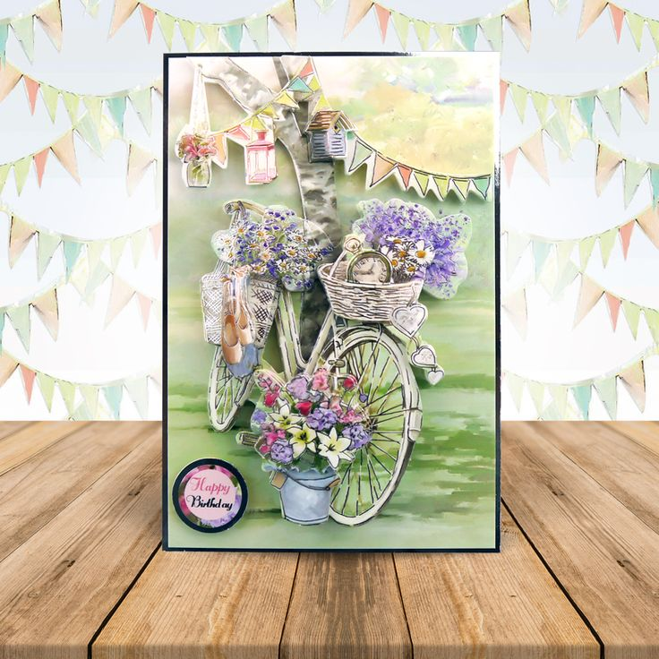 Cycle Chic - wonderful Shabby Chic imagery #cardmaking #papercraft #cardcraft #decoupage #diecut