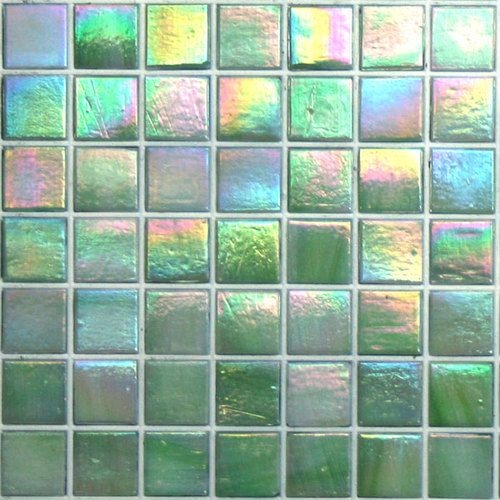 Grammy Green Kaleidoscope Color Glitz Iridescent Glass